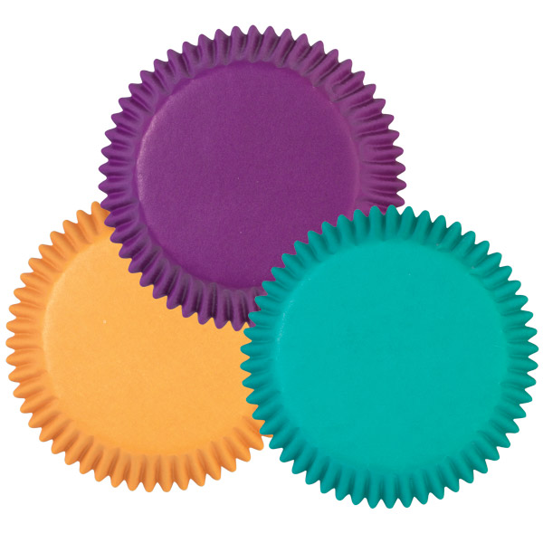 Assorted Jewel Colors Baking Cups