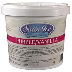 Satin Ice Fondant - Purple/Vanilla 2 lb. Tub
