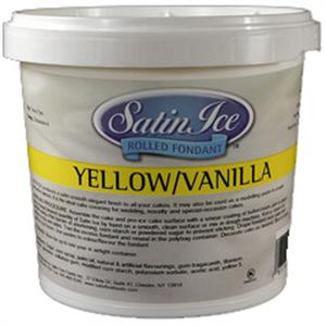 Satin Ice Fondant - Yellow/Vanilla 2 lb. Tub