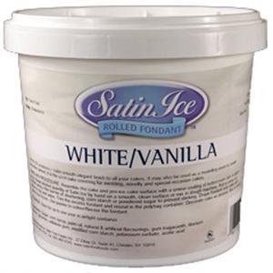Satin Ice Fondant - White/Vanilla 5 lb. Tub