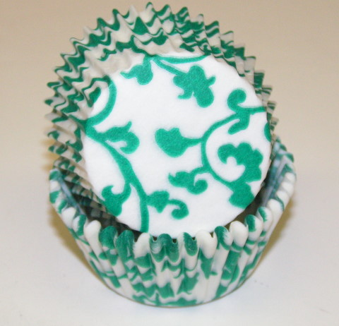 Green Ivy Baking Cups
