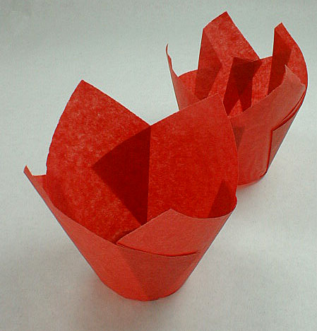 Red Tulip Baking Cup