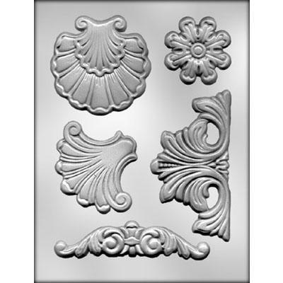 Baroque Gumpaste Mold #1