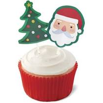 Santa and Tree Cupcake Toppers
