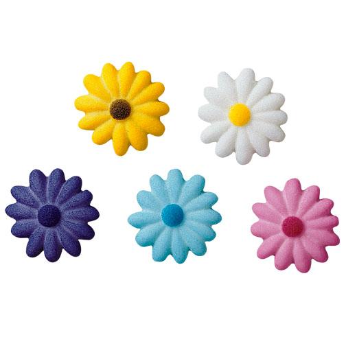 Daisies Asst. Colors Sugar Decorations