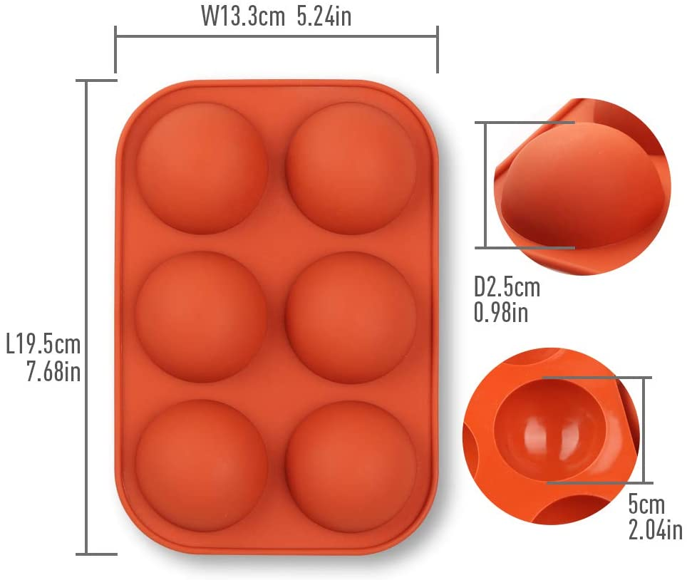 "Sphere Silicone Mold - 2"" (Chocolate Bomb Mold) BACK IN STOCK SOON"