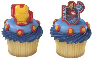 Iron Man Cupcake Rings