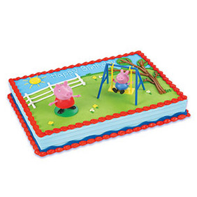 Peppa Pig Swing Set Cake Topper