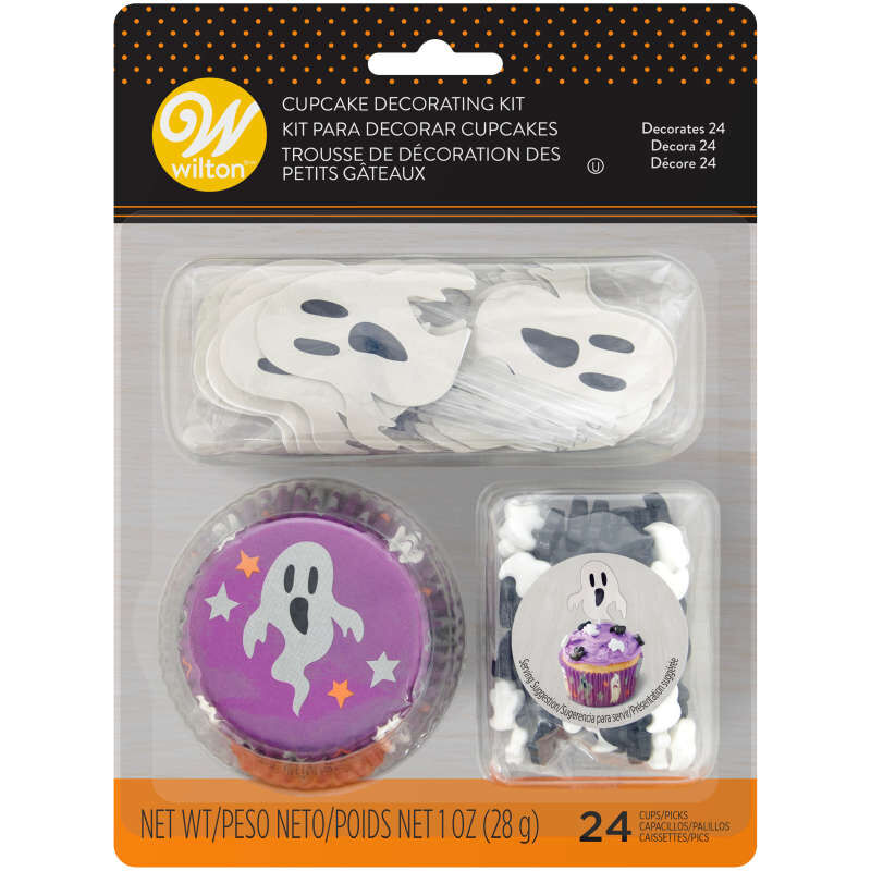 Halloween - Ghost Cups with Ghost Pics, and Black and White Ghost Candies
