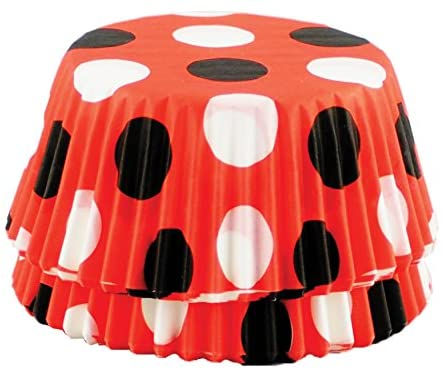 Red Black White Polka Dot Standard Baking Cup