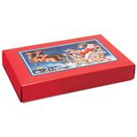 1 lb. 2 Piece Candy Box: 9 5/8 x 6 1/8 x 1 1/8  in. - Santa's Sleigh