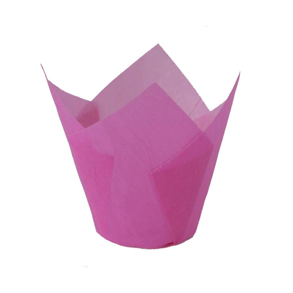 Pink Tulip Baking Cups