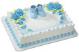 Blue Baby Booties Cake Topper