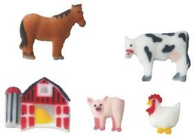 Farm Animals Assortment Sugar Decorations