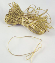 """18""""Gold Candy Box Elastic Ties (10 Count)"""