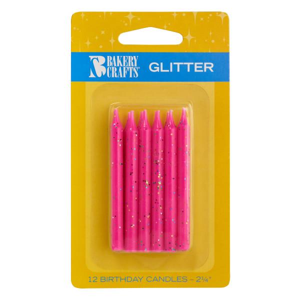 Pink Glitter Candles