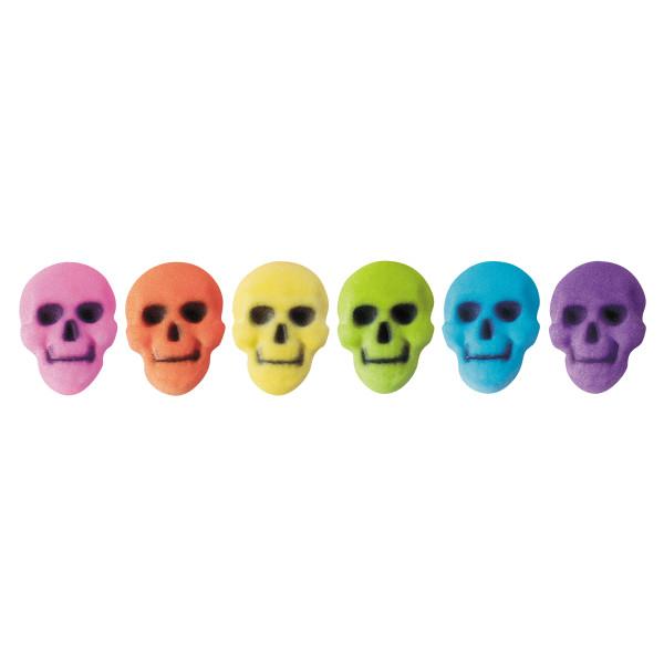 Colored skull Sugar Decorations