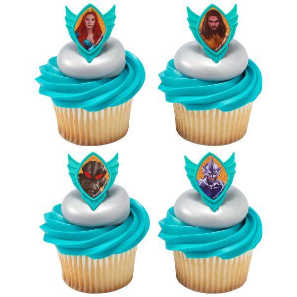 Aquaman Cup Cake Rings