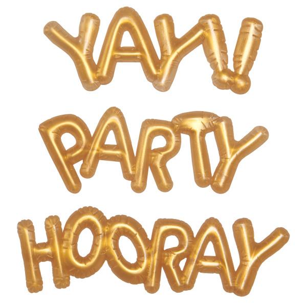 Gold Balloon Words Mini Cupcake Pics