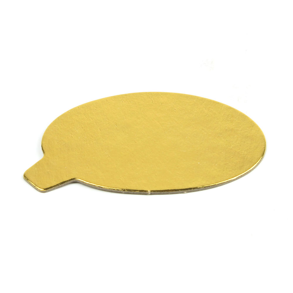 """Gold Cardboard Round with tab  - 4"""" - 25 count"""
