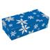 1 lb. 1 Piece Candy Box: 7 x 3 1/4 x 2  in. 1 lb. - Blue Snowflake