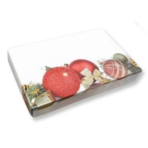 1/2 lb. 2 Piece Candy Box: 7 x 4 1/2 x 1 in. - Pine Cone Ornament