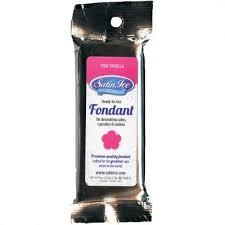 Satin Ice Fondant - Pink/Vanilla 4.4 oz