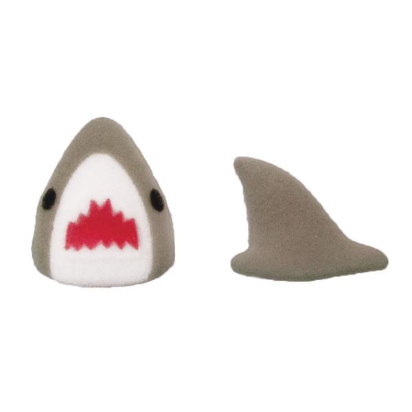 Shark and Fin Sugar Decorations