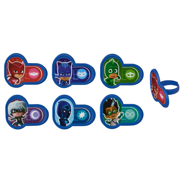 PJ Masks Heroes and Villains Cupcake Rings