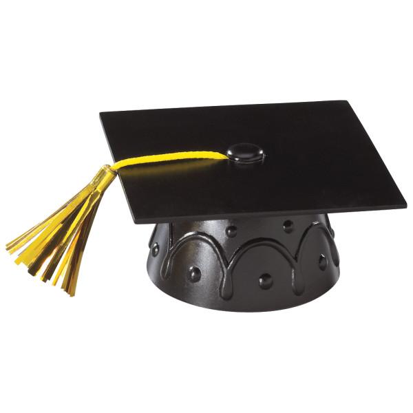 Black Grad Cap with Tassels