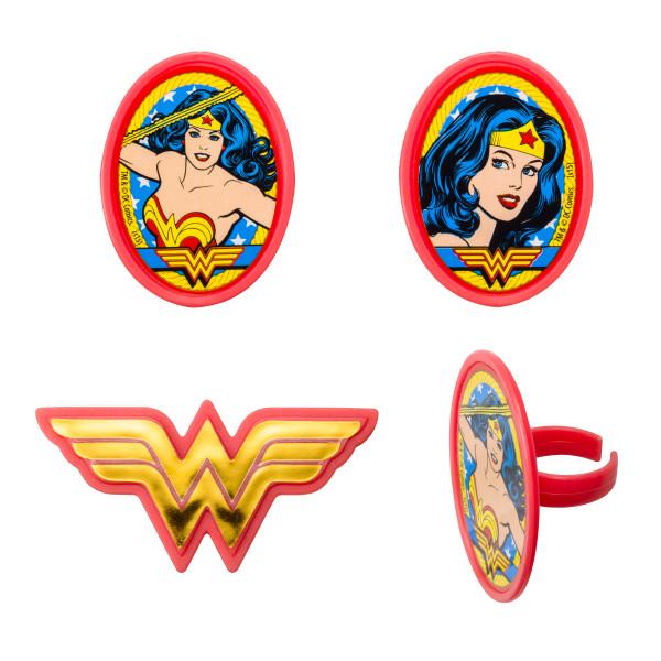 Wonder Woman Cupcake Rings