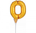 #0 Gold Decorative Balloon Cake Topper