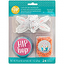 Easter - Hip Hop Baking Cups with Bunny Pics, and Carrot Candy Decorations
