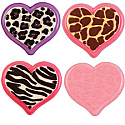 Animal Print Heart Candy Chocolate Mold