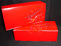 1 lb. 1 Piece Candy Box: 7 x 3 1/4 x 2  in. - Red Season's Greetings