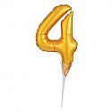 #4 Gold Decorative Balloon Cake Topper