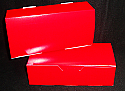 1 lb. 1 Piece Candy Box: 7 x 3 1/4 x 2  in. - Solid Red