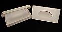 1/2 lb. 1 Piece Oval Window Candy Box: 7 1/2 x 4 x 1 1/8 in.