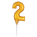 #2 Gold Decorative Balloon Cake Topper
