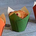 Bulk Item - Green Tulip Baking Cup - Full Sleeve