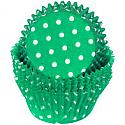 Green Polka Dot Standard Baking Cup