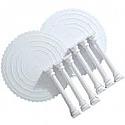 "Rental Item - Scalloped Plates w/pillars - 15"""