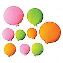 Bright Birthday Balloons (Small) Sugar Decorations
