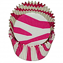 Aniimal Print - Hot Pink Zebra Stripe Baking cups