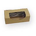 1/2 lb. 1 Piece Kraft Window Candy Box: 5 1/2 x 2 3/4 x 1 3/4 in.