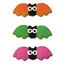 Colorful Bats Assortment Sugar Decorations