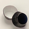 Black Foil Jumbo Muffin Cup