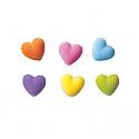 Rainbow Heart Charms Sugar Decorations
