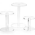 """Rental Item - Round Acrylic Stand 10"""" x 10"""""""