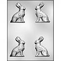 """3D Bunny Chocolate Mold - 3"""""""